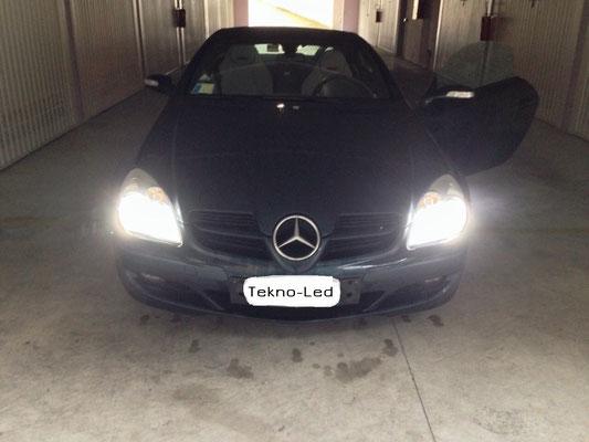 Mercedes SLK monta Kit LED Auto TKL9-H7-Canbus-Update + Canceller H7