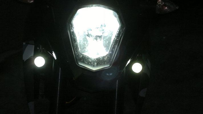 KTM Supermoto 990 monta Kit Led Moto TKLM3-H4/H6/H7 + Lampadina Led TKLT10-25