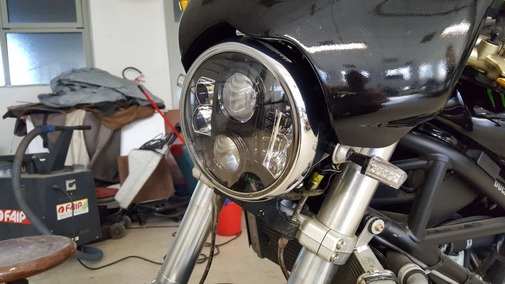 DUCATI MONSTER MONTA FARO FULL LED Mod. TKLFAR-80-BLACK