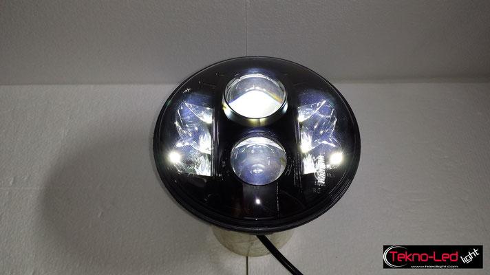 FARO COMPLETO A LED - (4450LUMEN)   Mod. TKL FAR-80B-WHITE - Abbagliante