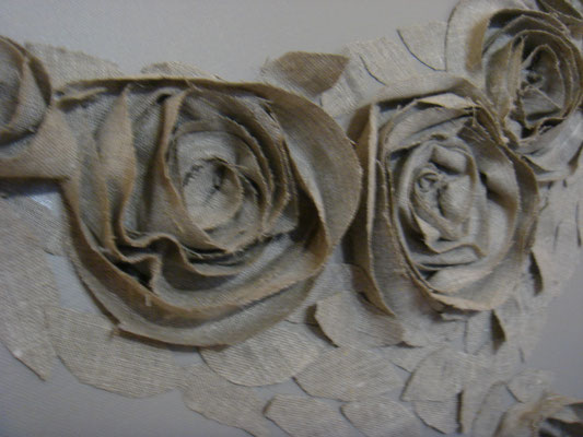 Roses beiges detail