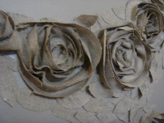 Roses beiges detail