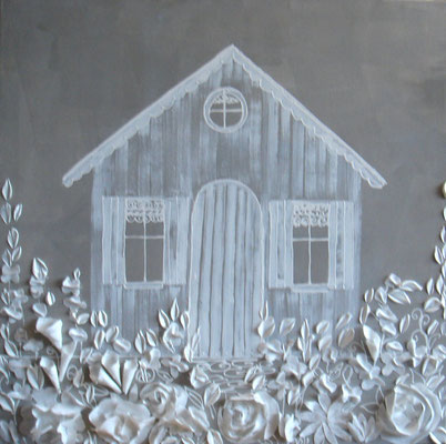 Cabane blanche 80x80