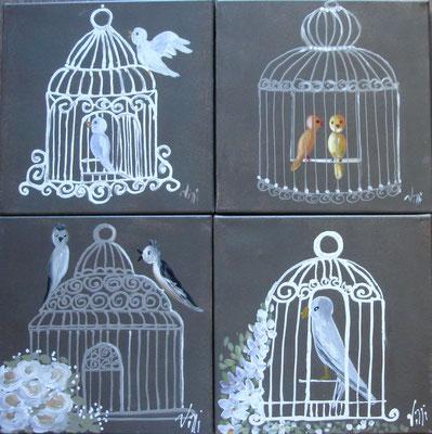Les oiseaux 4x30x30
