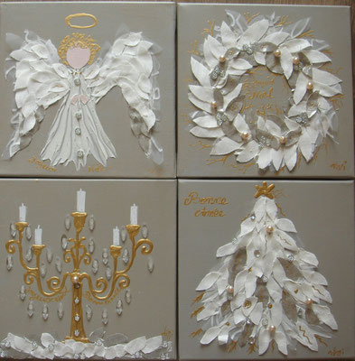 Noel blanc 12 4x30x30