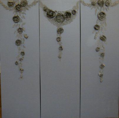 Roses beiges 3x150x50
