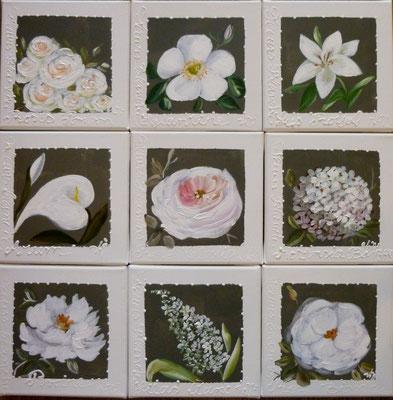"""""""Fleurs pastel"""" 9x20x20"""