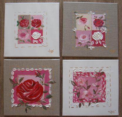 Roses roses 4x30x30
