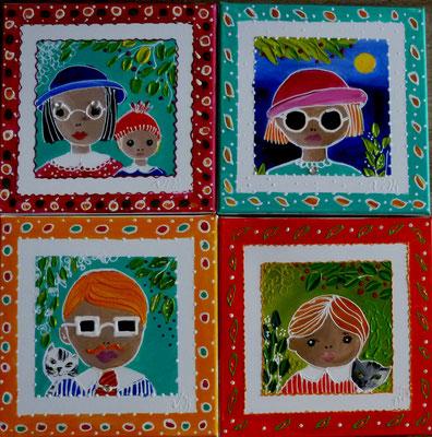 Portraits 4x30x30