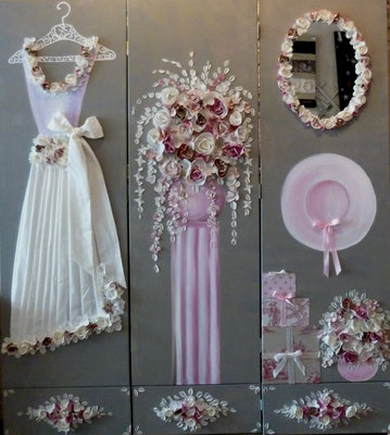 Mariage de rêve rose 3x170x50