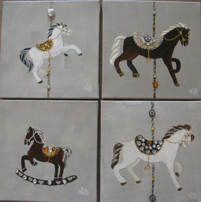 Litle horses linenen 4x30x30
