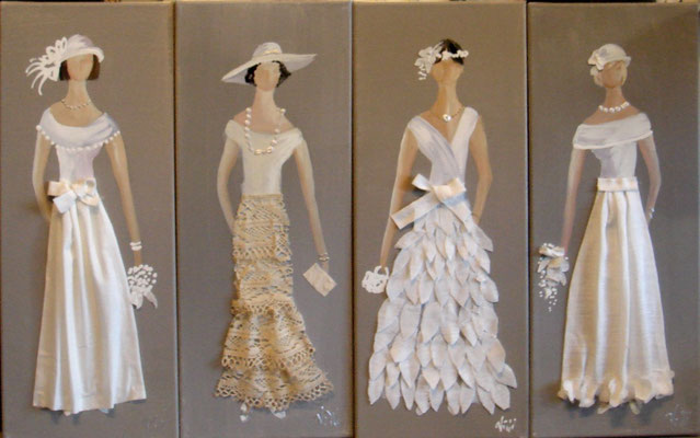 Robes blanches 2014 4x20x50