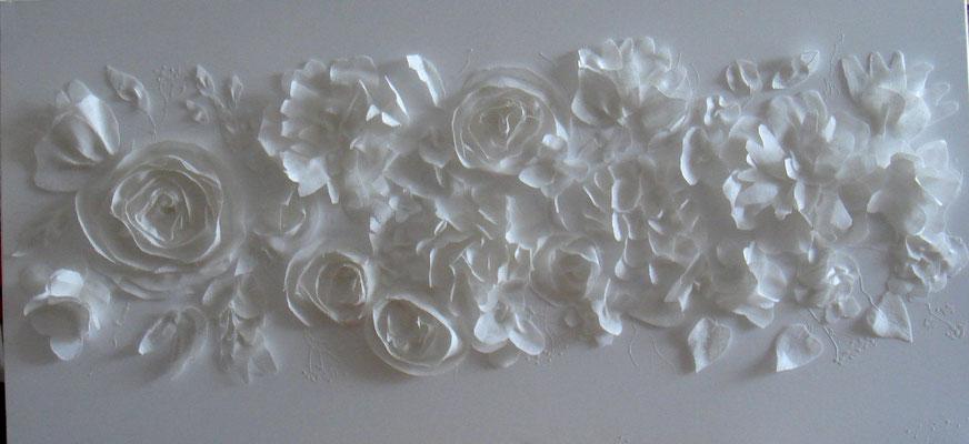 Deccoupage blanc 150x50
