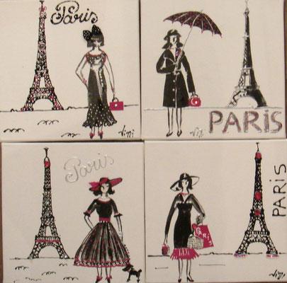 Souvenirs de Paris 4x30x30