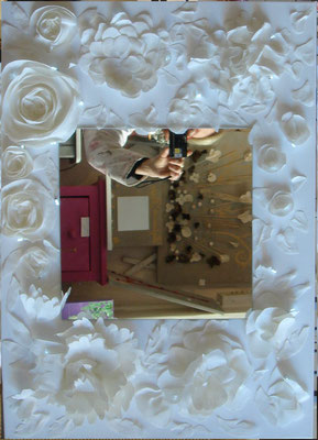 Découpage blanc miroir 50x70