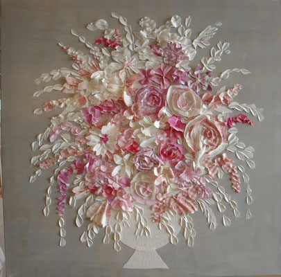 Bouquet rose 120x80