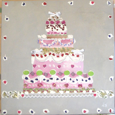 Birthday cake 60x60