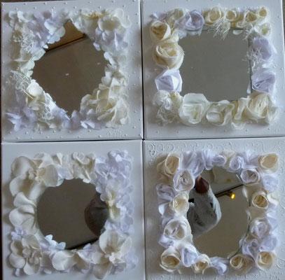 Miroirs blancs 4x30x30
