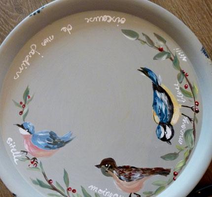 """Tray  """"oiseau"""" detail"""
