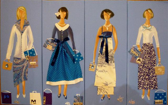 """""""Belles bleues"""" 4x20x50"""