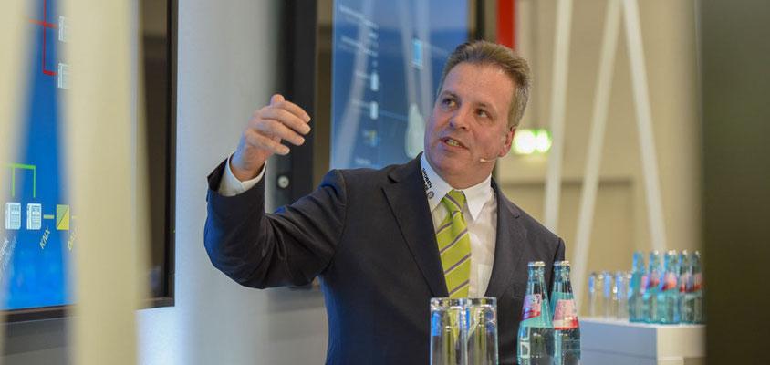Markus Groben auf dem Intersec Forum 2018 – Foto: Messe Frankfurt Exhibition GmbH / Sandra Gätke