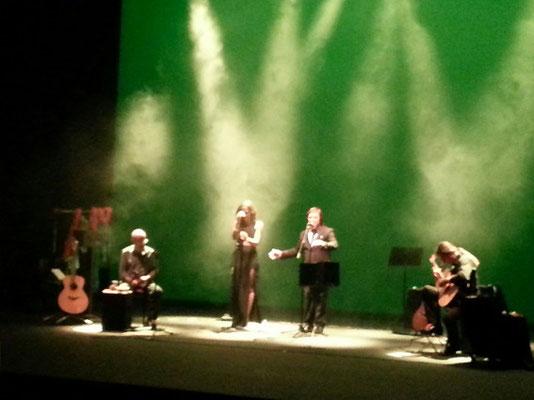 The warmest place. The green house con Julio García (guitarra), Marisa Tolentino y Rubén Melogno (voz), Isidro Solera (percusión)