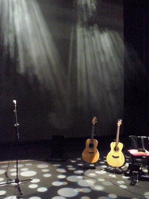 Prueba de sonido y luces. Presentación de The warmest place, Teatro MIRA de Pozuelo.