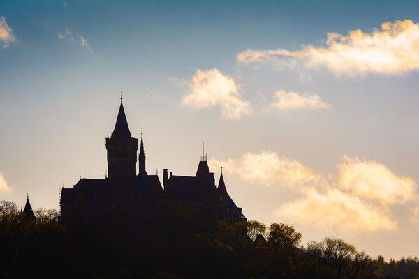 Das Schloss in Wernigerode im Herbst