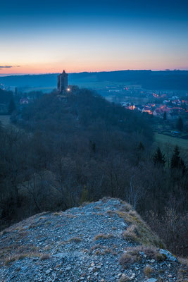 Burg Saaleck in Bad Kösen am Abend