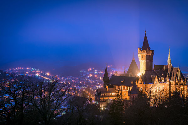 Schloss in Wernigerode im Winter