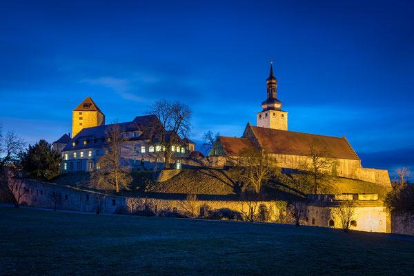 Burg Querfurt am Abend
