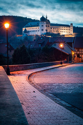 Schloss in Stolberg am Abend