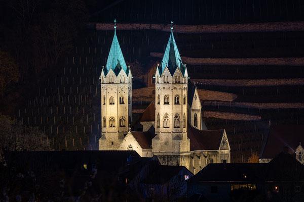 Marienkirche in Freyburg/Unstrut bei Nacht