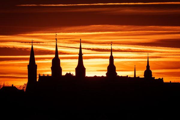 Schloss in Merseburg im Sonnenuntergang