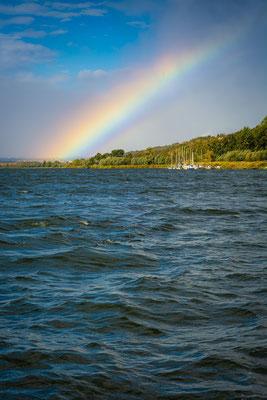 Regenbogen über dem Süßen See - Seeburg