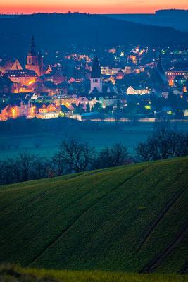 Blick auf Lutherstadt Eisleben am Abend