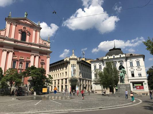 Ljubljana Sehenswürdigkeiten Preseren Platz