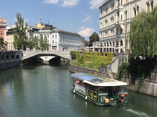 Ljubljana Sehenswürdigkeiten Bootstour