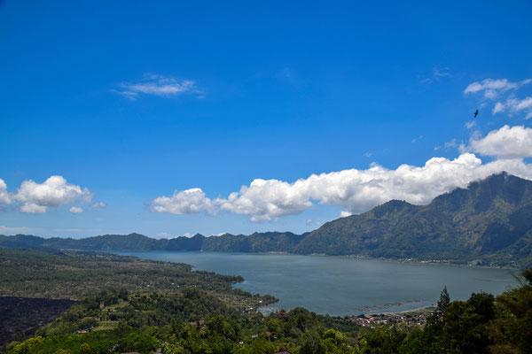 Mount Batur Bali Vulkan Wanderung Aufstieg zum Gipfel