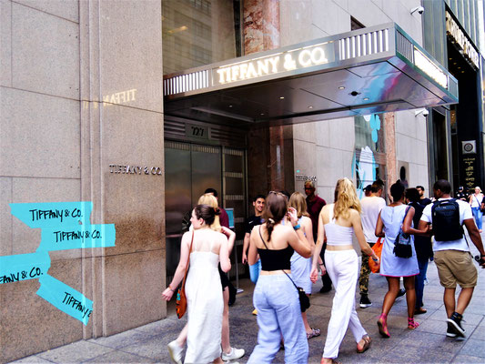 New York - berühmte Plätze aus Filmen - Frühstück bei Tiffany