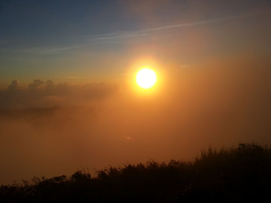 Mount Batur Bali Vulkan Wanderung Sonnenaufgang auf dem Berg