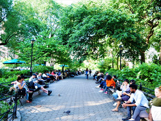 Bekannte Plätze in New York City Union Square Park
