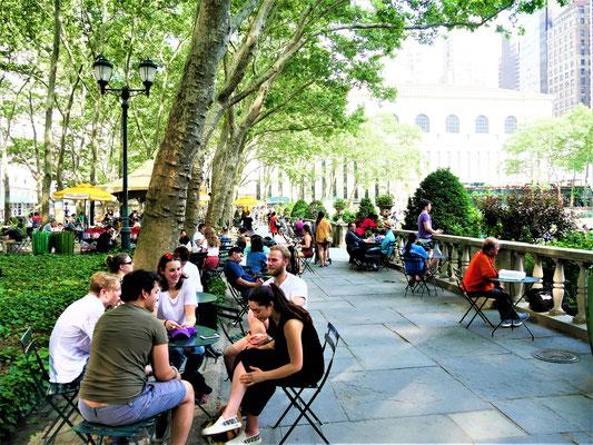New York Plätze  Bryant Park