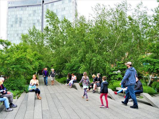 Bekannte Plätze in New York City High Line Park