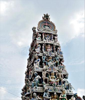 Chinatown Singapur Sehenswürdigkeiten Sri Mariamman Tempel