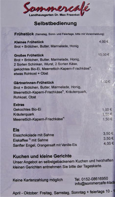 Berlin kulinarisch : Sommercafé Landhausgarten