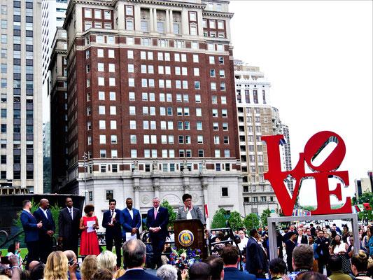 Philadelphia Reisen Love Park