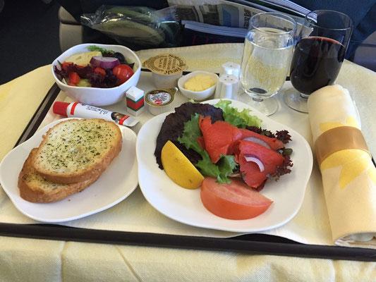 Krank nach Flug falsches Essen
