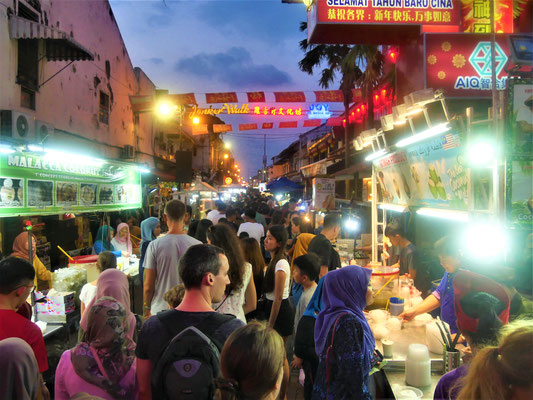 Malakka Reisebericht  Jonker Street Nachtmarkt