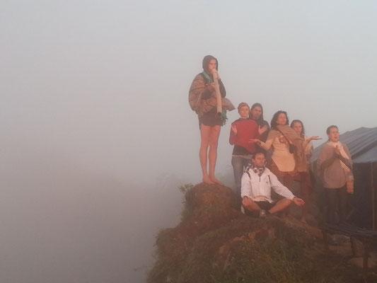Mount Batur Bali Vulkan Wanderung Auf dem Gipfel